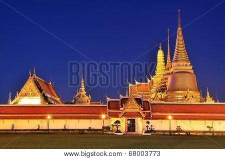 Wat Phra Kaew At Twilight, Temple Of The Emerald Buddha
