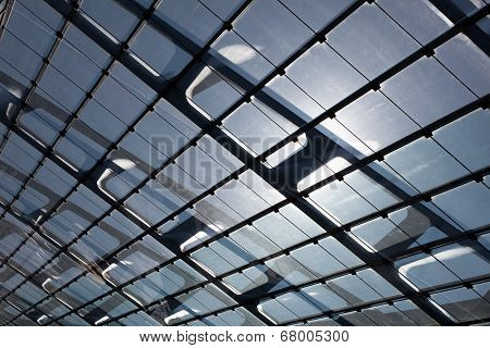 The Glass Roof Of The Station In Sunlight