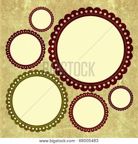 Round scrapbook's frame