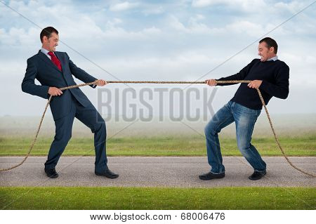 Tug Of War Between The Same Man