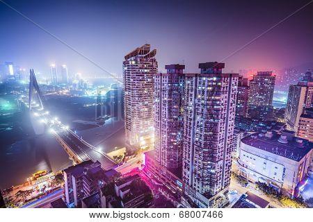 Chongqing, China over the Jialing River.