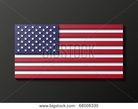 Modern style U.S. flag. Vector illustration.