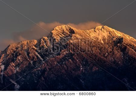 Mountain Jade North Peak In Dawn