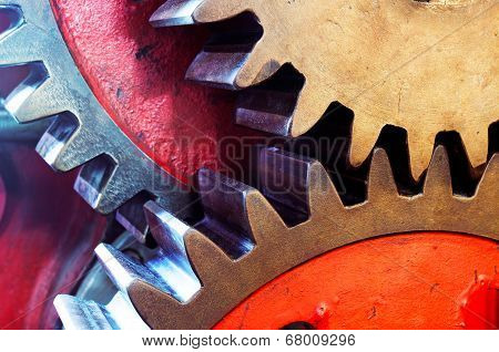 The Pinion Gear For Mechanical Machine In Factory