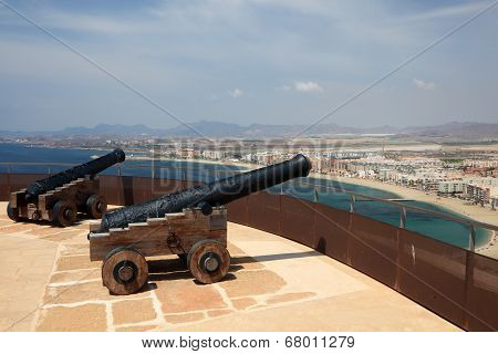 Cannons in Aguilas, Spain