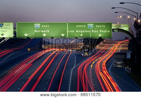 Highway signs over Freeway