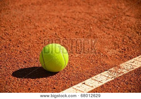Tennis Ball Near Markup Diagonal Horizontal