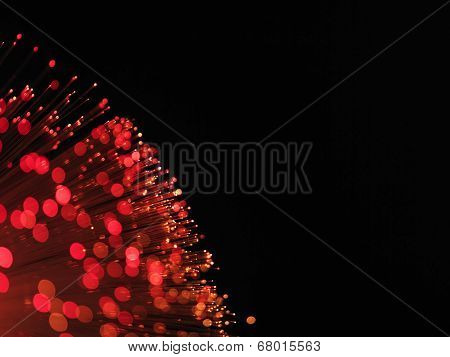 red fibre optic cable