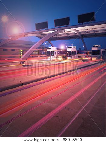 Toll Booth at night