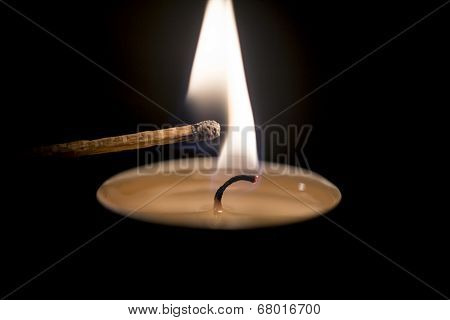 Candle Ignited A Match