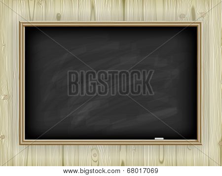 School board on wooden background