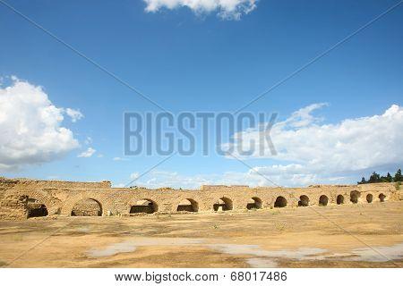 Roman Aqueduct Arches Near Carthage