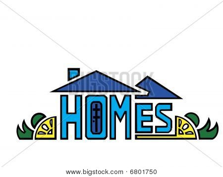 Homes logo/design;art done by me