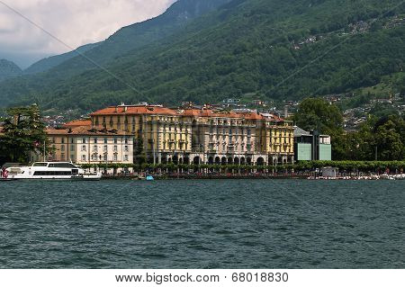 The Embankment Of Lugano Lake, Switzerland