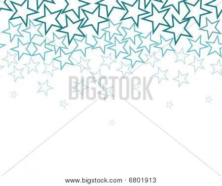 Stars Background Over White