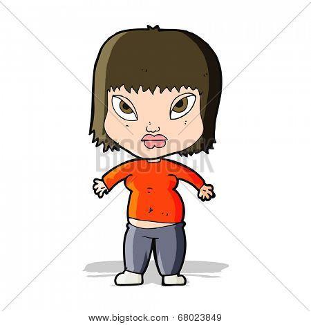 cartoon overweight woman