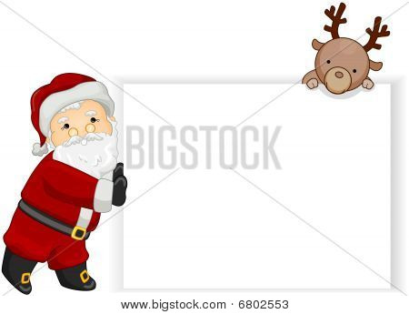 Santa Blank Board