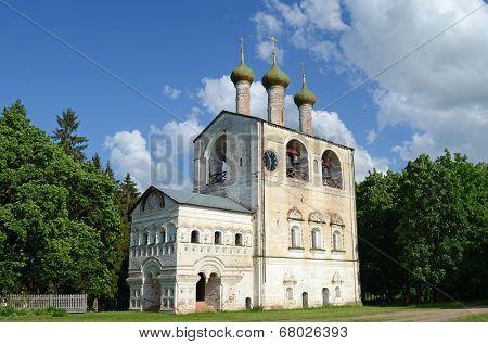 belfry in Borisoglebsky Monastery in Yaroslavl region, Russia