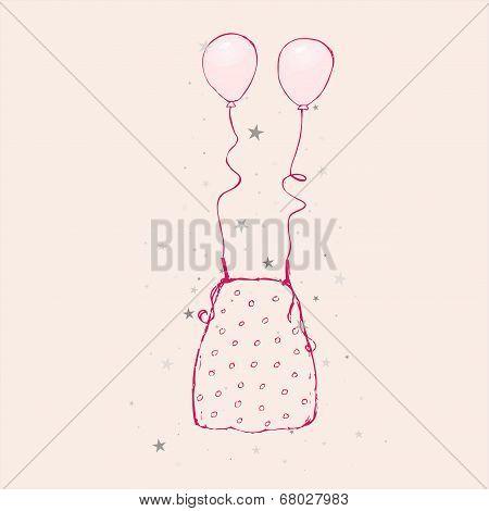 Sketch - dot blouse