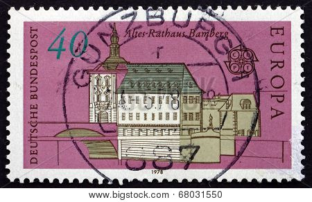Postage Stamp Germany 1978 Old City Hall, Bamberg