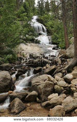 Waterfall at Mount Whitney in California