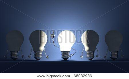 Light Bulbs, Moment Of Insight On Blue