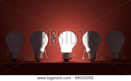 Light Bulbs, Moment Of Insight On Red