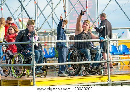 BIG ZAVIDOVO, RUSSIA - JULY 4: Disables attend rock festival