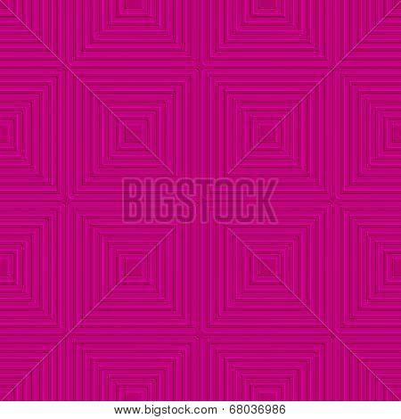 Pink Offset Squares Embossed Tile Ornament