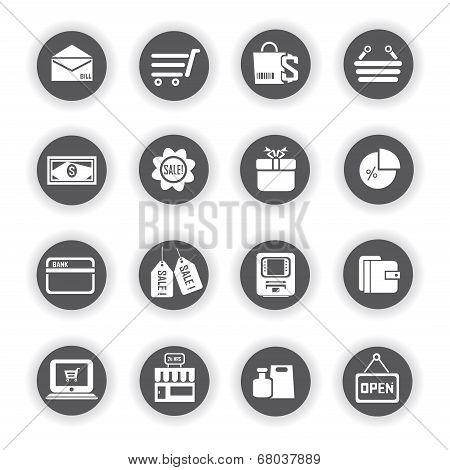 e commerce icons, marketing icons
