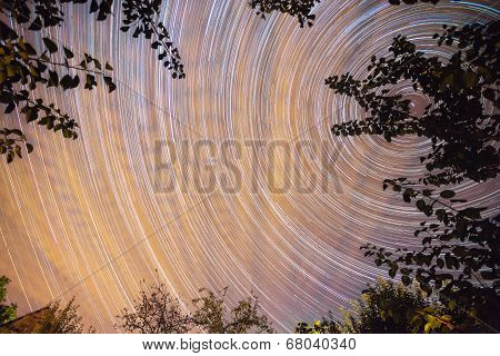 Vibrant Night Sky With Stars