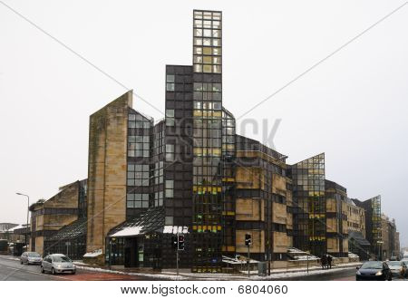National Library Of Scotland, Causewayside Building , Edinburgh In The Snow.