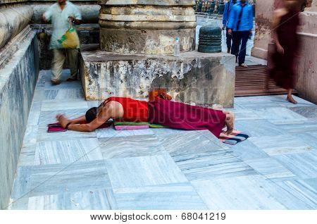 Tibetian Monk Praying