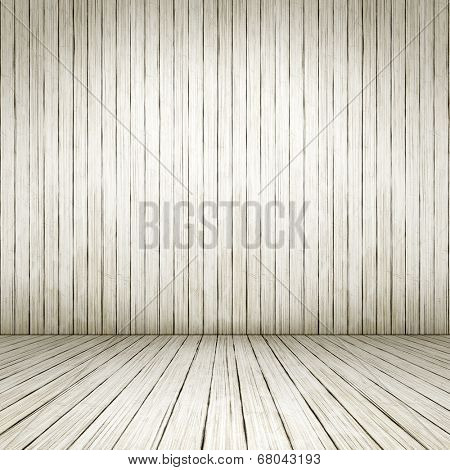 An empty white wood room background for your own content