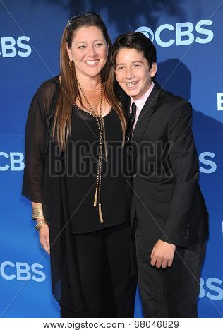LOS ANGELES - JUN 06:  Camryn Manheim & Milo Manheim arrives to the 'Extant' Premiere Party  on June 06, 2014 in Los Angeles, CA