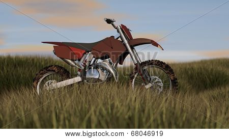 enduro motorbike in grass