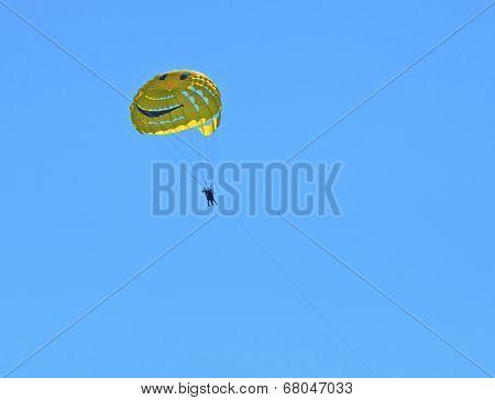 Yellow parasail