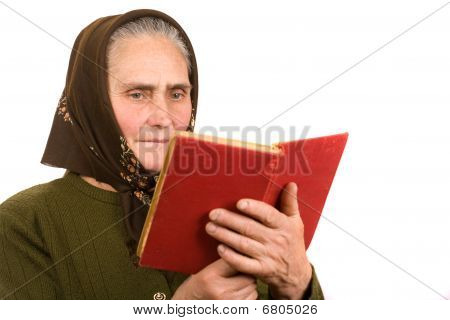 Old Peasant Woman Reading
