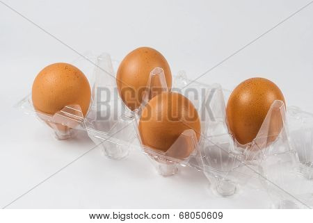 Transparent Plastic Eggs Tray
