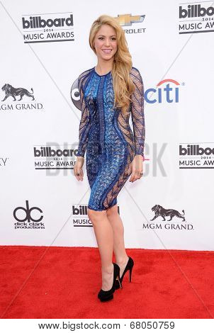 LAS VEGAS - MAY 18:  Shakira arrives to the Billboard Music Awards 2014  on May 18, 2014 in Las Vegas, NY