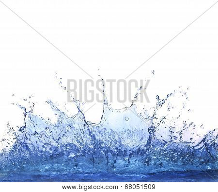Splashing Clear Water On White Background Use For Refreshment And Cool Dring Water Background