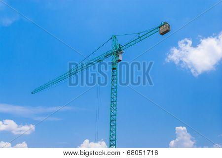 Aqua Crane With Cabin And Concrete Counterweight