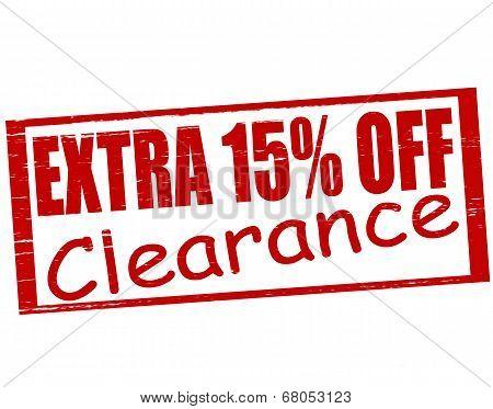 Extra Fifteen Percent Off