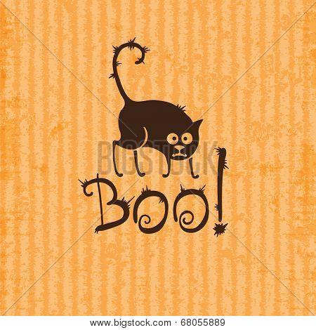 Halloween cat. Boo!