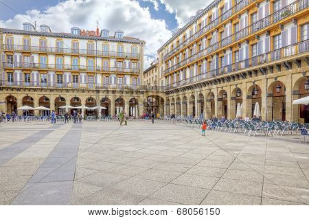 San Sebastian. European Capital Of Culture. Constitution Square