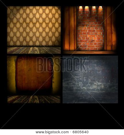 Set of Vintage Backgrounds
