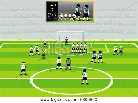 Soccer stadium scene.