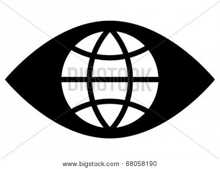 Spy eye icon