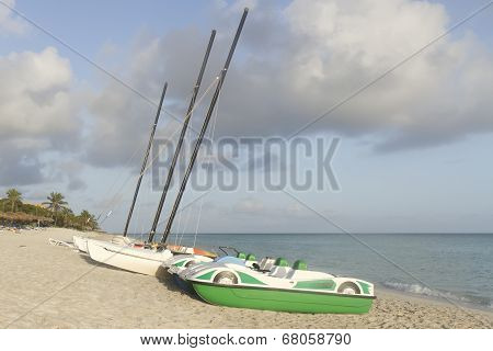 Boat On The Beach, Season Of Rains, Thunderclouds