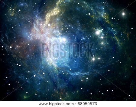Space Star Nebula